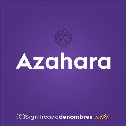 Significado del nombres Azahara
