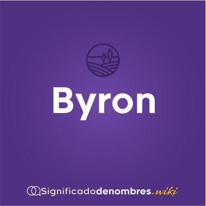 Significado del nombre Bryon