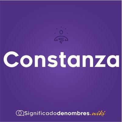 Significado del nombre Constanza